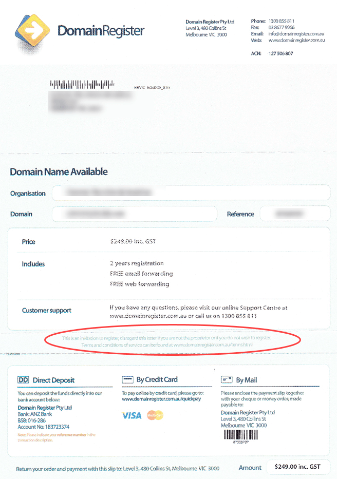 Don't Get Caught by an Invitation To Register Domain – Fake Domain Renewal Letters Can Cost You