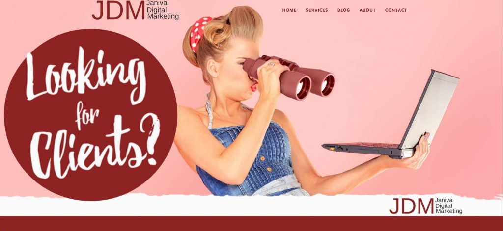 Janiva Digital Marketing New Website by Sistas in Success