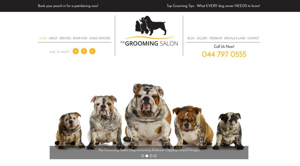 The Grooming Salon New Website by Sistas in Success