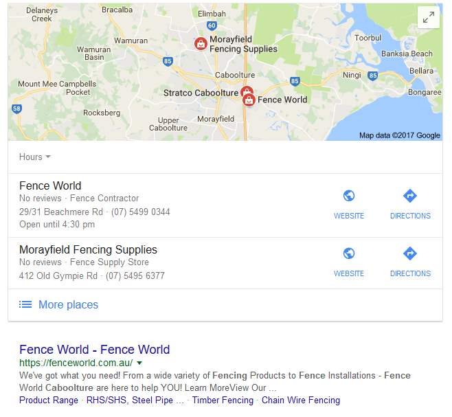Killin It For Local Businesses With SEO - Fence Supplies Caboolture