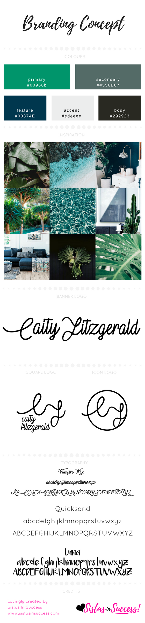 Caity Fitzgerald Branding Concept